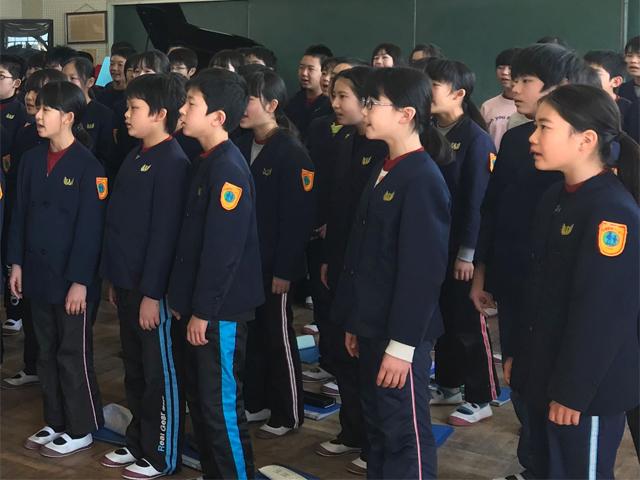 浜松市立北浜北小学校6年生の学年歌づくりサポート事例